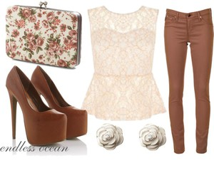 fashion, jeans, and brown image