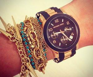 watch, girly, and gold image