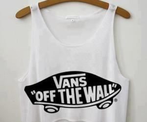 vans, shirt, and white image