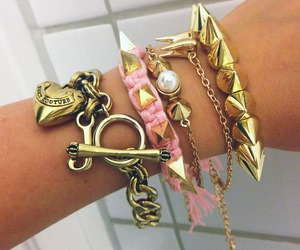 pink, bracelet, and pretty image