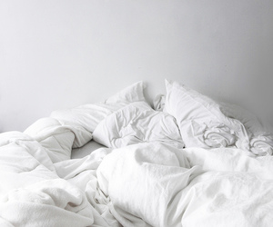 bed, white, and sleep image