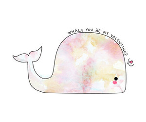 whale, valentine, and cute image