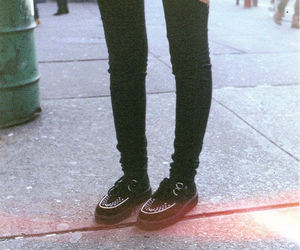 shoes, creepers, and vintage image