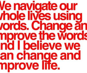 change, words, and text image