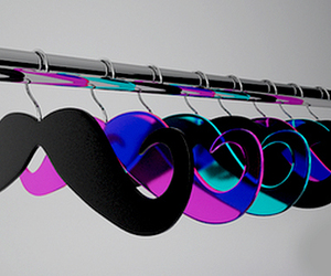 mustache, moustache, and hanger image