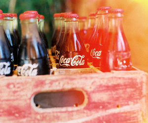 coca cola, drink, and vintage image