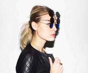 blonde, color, and sunglasses image