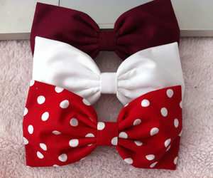 cute, girl, and bow image
