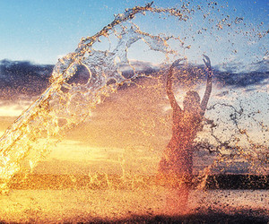 water, summer, and beach image