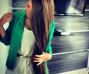 fashion, hair, and green image