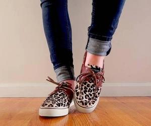 shoes, sperry, and cheetah image