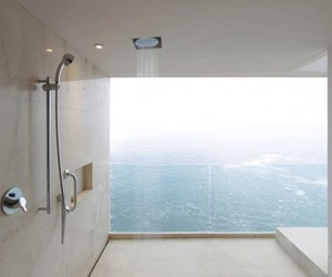 shower, bathroom, and view image