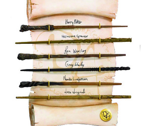 harry potter, wand, and hermione granger image