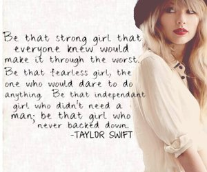 quote and Taylor Swift image