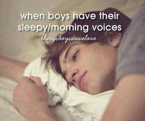 boy, voice, and morning image