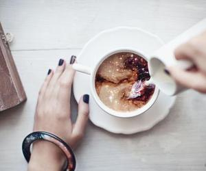 coffee, galaxy, and milk image