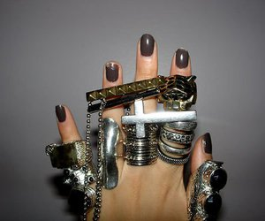 rings, nails, and hand image