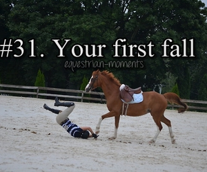 horse, equestrian moments, and first fall image