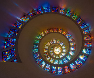 colours, light, and spiral image