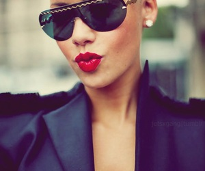 Amber Rose, model, and red lips image
