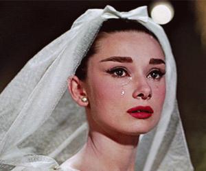 audrey hepburn, black, and bride image
