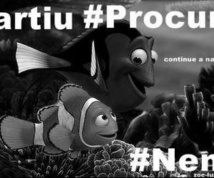 black and white, cool, and finding nemo image