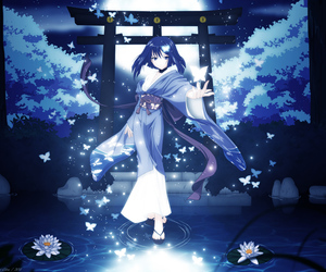anime, blue, and pretty image