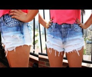 fashion, jeans, and short image