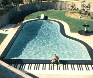 piano, pool, and cool image