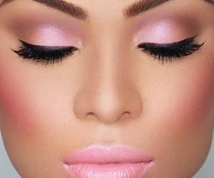 makeup, pink, and make up image