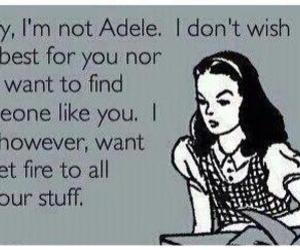 Adele, ex boyfriend, and funny image