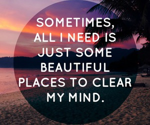 beach, beautiful, and mind image
