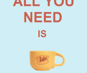 coffee, gilmore girls, and text image