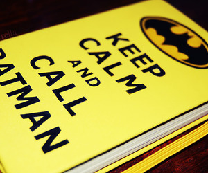 batman, keep calm, and book image