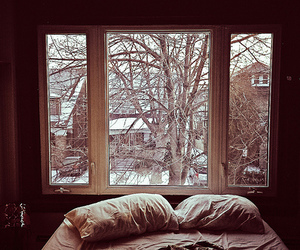 alone, sheets, and snowing image