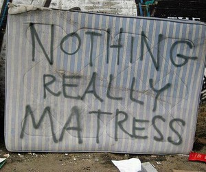 matress, funny, and text image