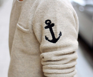 anchor, sweater, and boy image