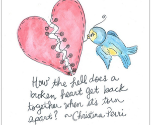 bluebird, broken, and heart image
