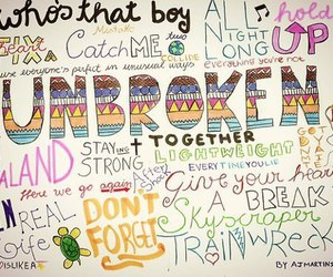 demi lovato, song, and unbroken image