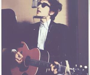 bob dylan, guitar, and music image