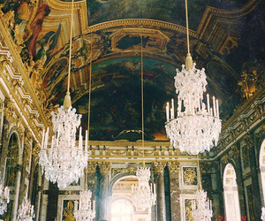 photography, chandelier, and france image