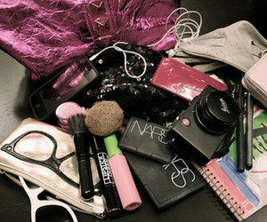 bag, make up, and makeup image