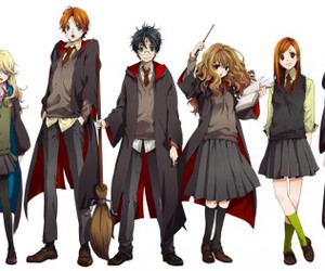 harry potter, anime, and hermione image