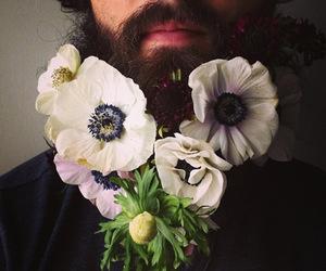 beard and flowers image