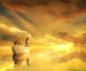 illustration, Life of Pi, and tiger image