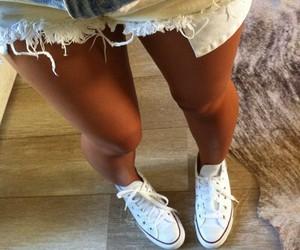 girl, converse, and shorts image