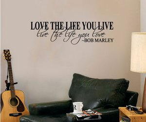 quote, sticker, and bob marley image