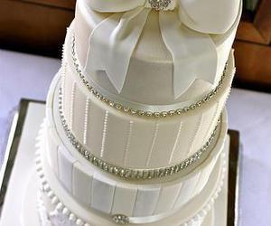 cake, white, and wedding image
