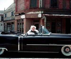 Marilyn Monroe, car, and vintage image