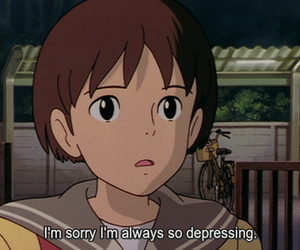 anime, depressing, and quotes image
